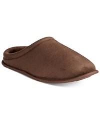 Club Room Men's Faux Suede Clog Slippers Only At Macy's Brown