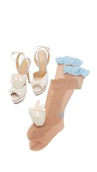 Charlotte Olympia Serena Sandals Ivory