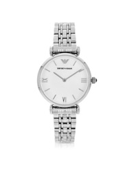 Emporio Armani Retro Stainless Steel Women's Watch Silver
