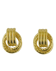 Lord And Taylor 14 Kt. Yellow Gold Door Knocker Earrings