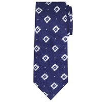 John Lewis And Co. Wickett Slubby Silk Tie Navy White