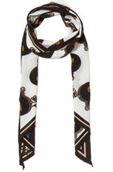 Lanvin Scarf In Black White