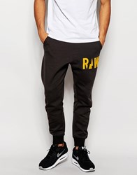 G Star G Star Sweat Pants Grount Tapered Fit Cuffed In Raven Black