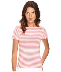 Kate Spade Stripe Everyday Tee Surpscoral Women's T Shirt Pink
