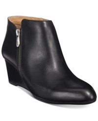 Adrienne Vittadini Meriel Wedge Booties Only At Macy's Women's Shoes Black Soft Calf