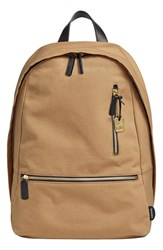 Men's Skagen 'Kroyer 2.0' Coated Canvas Backpack Beige Khaki