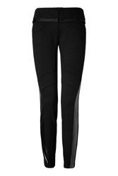 Just Cavalli Pleather Paneled Skinny Pants
