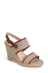 Louise Et Cie 'Rebekah' Canvas Wedge Sandal Women Iron Brandy