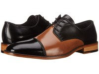 Stacy Adams Brayden Black Tan Men's Lace Up Cap Toe Shoes