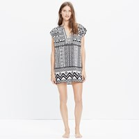 Madewell Belize Cover Up Tunic Dress In Diamond Coast