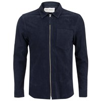 Our Legacy Men's Suede Zip Shirt Navy