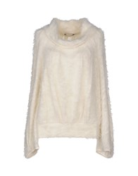 Plein Sud Jeanius Knitwear Turtlenecks Women White