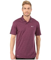 Nike Tiger Woods Kimono Heather Mesh Polo Shirt Mulberry Heather Black Reflective Silver Men's Short Sleeve Pullover Red
