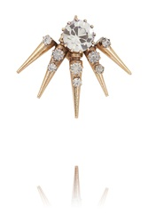 Vickisarge Rose Gold Plated Swarovski Crystal Clip Earring Metallic