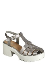 Refresh Citrus Woven Platform Sandal Metallic