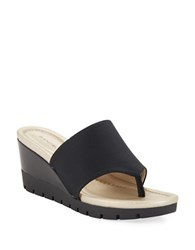 Bandolino Meadoe Thong Sandals Black