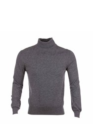 Johnstons Of Elgin Cashmere Roll Collar Sweater Grey