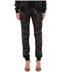 Philipp Plein Embellished Jogging Sweatpants Black Women's Casual Pants