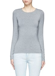 Alexander Wang Cutout Back Modal Jersey Long Sleeve Top Grey