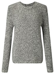 John Lewis Collection Weekend By Cashmere Donegal Knit Jumper Black White