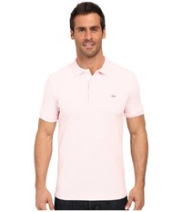 Lacoste Stretch Petit Piqu Slim Fit Polo Flamingo Men's Short Sleeve Pullover Pink