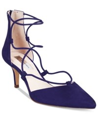 Inc International Concepts Daree Lace Up Pumps Only At Macy's Women's Shoes Midnight Blue