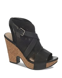 Naya Open Toe Platform Sandals Maple