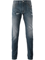 Love Moschino Distressed Slim Fit Jeans Blue
