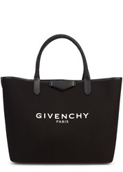 Givenchy Antigona Large Black Canvas Tote Black And White