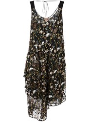 N 21 No21 Floral Embellished Mid Length Dress Black