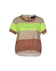Atos Lombardini Shirts Blouses Women Light Brown