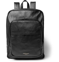Common Projects Cross Grain Leather Backpack Black