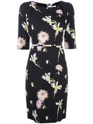 Blumarine Floral Print Dress Black
