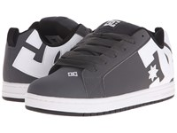 Dc Court Graffik Grey White Men's Skate Shoes Gray