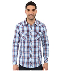 Rock And Roll Cowboy Long Sleeve Snap B2s7264 Blue Men's Long Sleeve Button Up