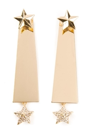Luxury Fashion Star Earrings Metallic