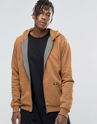 Dickies Zip Up Hoodie Brown Duck