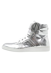 Michalsky Urban Nomad I Classic Hightop Trainers Silver Mirror