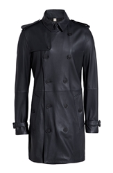 Burberry Sandringham Leather Trench Coat