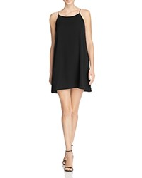Aqua Crepe Slip Dress Black