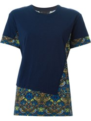 Marc By Marc Jacobs Strawberry Thief Print Panel T Shirt Blue