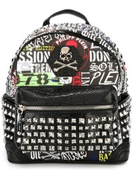 Philipp Plein 'Wall' Backpack Black