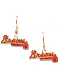 Aminco Atlanta Braves Logo Drop Earrings Team Color