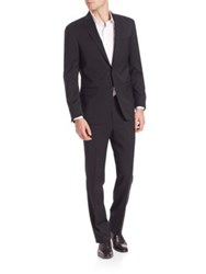 Saks Fifth Avenue Solid Wool Suit Black