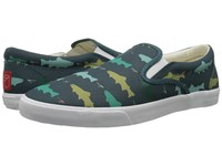 Bucketfeet Hookin Brookies Deep Teal Men's Slip On Shoes Green