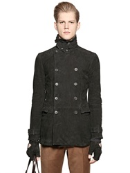 John Varvatos Double Breasted Suede Colonial Jacket