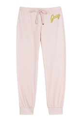 Juicy Couture Paradise Velour Track Pants Rose