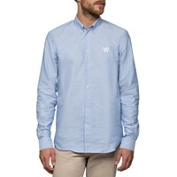 Wood Wood Light Blue Timothy Shirt Grey