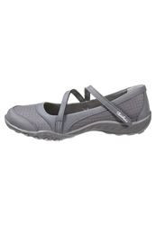 Skechers Breathe Easy Marigold Ballet Pumps Charcoal Gray Grey