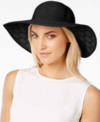 Collection Xiix Lace Polka Dot Petal Floppy Hat Black